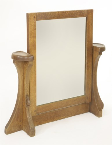 134 - A Robert 'Mouseman' Thompson toilet mirror