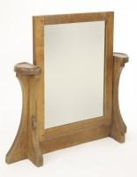 134 - A Robert 'Mouseman' Thompson toilet mirror