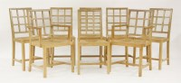 Lot 89 - A set of eight Heal's oak dining chairs