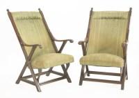 Lot 12 - A pair of mahogany armchairs