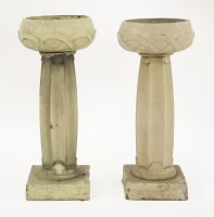 Lot 28 - A pair of glazed stoneware planters