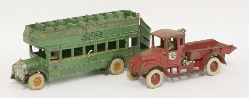 215 - An Arcade Toys cast iron popular truck