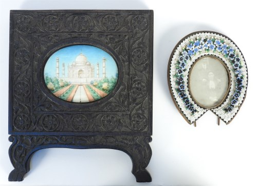 Lot 48-Miniature on ivory of the Taj Mahal