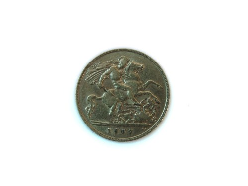 Lot 19 - Gold half sovereign 1907
