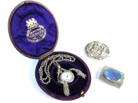 Lot 74-A Continental silver fob watch