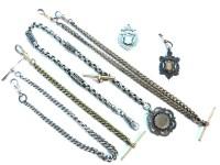 Lot 71-A silver Albert chain