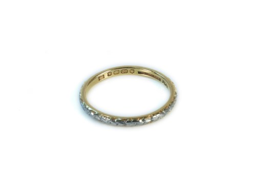 Lot 1-A 22ct gold hand engraved wedding ring