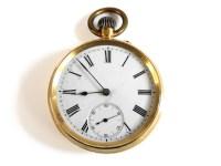 Lot 70 - A Swiss gold open faced pocket watch
