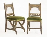 Lot 9 - A set of six oak side chairs