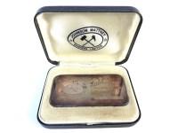Lot 39-A silver 100 grammes fine silver ingot