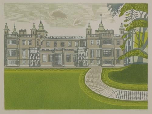 Lot 1-*Edward Bawden RA (1903-1989) AUDLEY END HOUSE Linocut