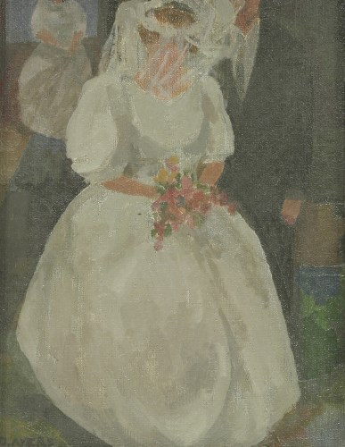 Lot 40-*Duffy Ayers (b.1915) 'THE WEDDING' Signed l.l.
