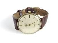 Lot 47-A 9ct gold gentleman's Fortex mechanical strap watch