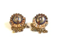 Lot 30 - A pair of gold earrings