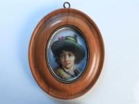 Lot 73-A 19th century oval porcelain portrait plaque