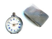 Lot 61-A silver vesta case