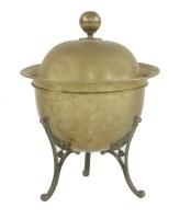 Lot 31 - An Arts & Crafts brass and iron coal bin