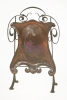 Lot 66 - An Arts & Crafts copper and wrought iron fire screen