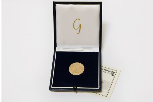 Lot 59-An Italian gold commemorative coin