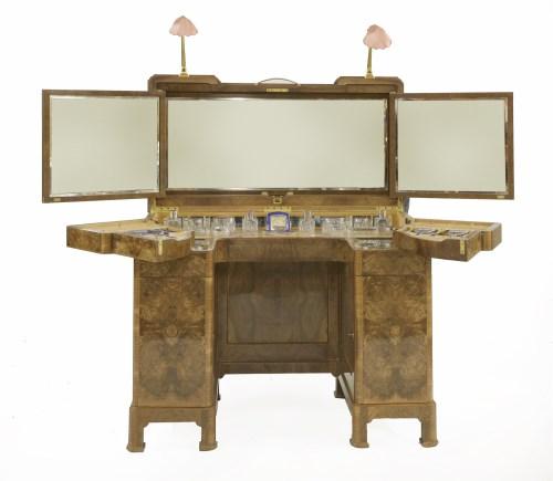 Lot 322-A walnut dressing table