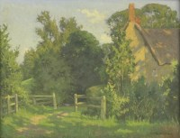 Lot 93 - *Cyril Frost (1880-1971) A FARMHOUSE IN SUNLIGHT Signed and dated 1945 l.r.