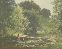 Lot 91 - *Cyril Frost (1880-1971) BATHERS Oil on canvas board 43 x 50cm  *Artist's Resale Right may apply to this lot.