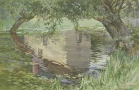 Lot 90 - *Cyril Frost (1880-1971) REFLECTIONS Signed and dated '24 l.r.