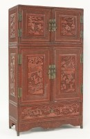 194 - A cinnabar lacquered cabinet
