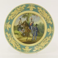 13 - A porcelain military plate