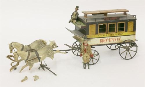 83 - A rare German tin toy omnibus