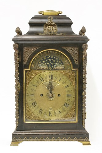 489 - A George III ebonised bracket clock