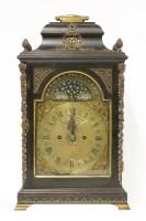 489 - A George III ebonised bracket clock
