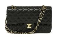 1031 - A Chanel black caviar leather 2.55 double flap medium handbag