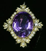 Lot 90 - A late Victorian amethyst