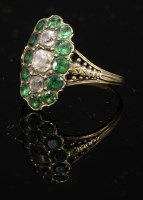 Lot 8 - A Georgian colourless and green paste fingerline ring
