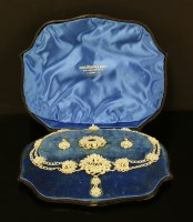 Lot 14 - A cased early Victorian seed pearl necklace