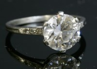 137 - A single stone diamond ring