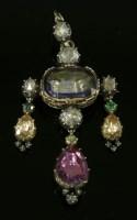 Lot 4 - A gem set girandole pendant/brooch