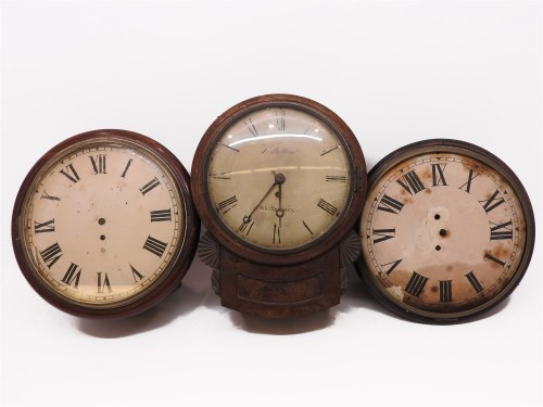 Lot 239-A Regency mahogany wall clock