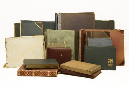 Lot 222-A box of fifteen old photograph albums