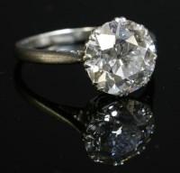 174 - A single stone diamond ring
