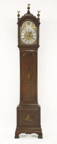 Lot 348-A good Edwardian mahogany musical eight-day longcase clock