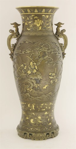 262 - A Japanese bronze vase