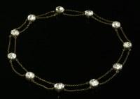 Lot 15 - A Georgian black dot quartz swag necklace