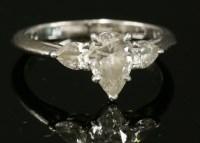 322 - A platinum three stone diamond Tiffany ring