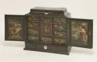 390 - A Flemish ebony cabinet