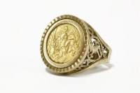 Lot 10-A 1902 half sovereign in a 9ct gold channel set ring mount