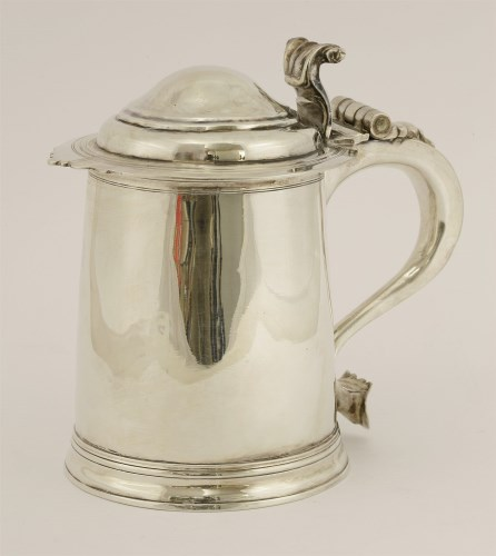 Lot 503-A Britannia standard Queen Anne silver tankard and cover