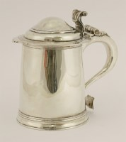 503 - A Britannia standard Queen Anne silver tankard and cover
