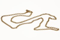 Lot 1047-A 9ct gold belcher link chain with swivel clasp 15.99g